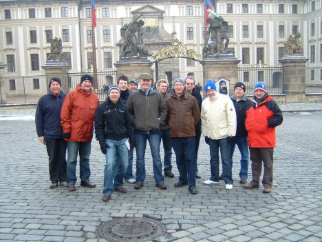 Presidential Party Poses in Prague