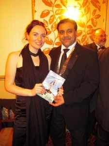 Chairman Shahid with guest speaker Sally Kettle