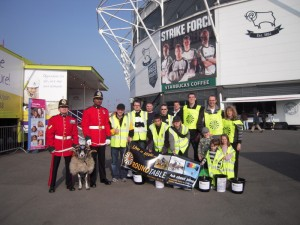 Collection team at Derby FC Pride Park, 18th March 09