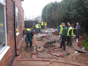 Sensory Garden Project under construction