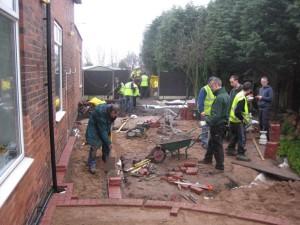 Sensory Garden Project under construction