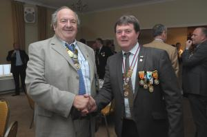 Outgoing Honoray President Peter Good