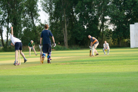 Long Eaton Chairman Mark faces the might of Beestons bowling